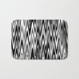 WAVY #1 (Black, White & Grays) Bath Mat