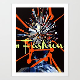 #Fashion Art Print