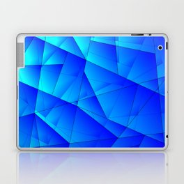 Bright sea pattern of heavenly and blue triangles and irregularly shaped lines. Laptop & iPad Skin