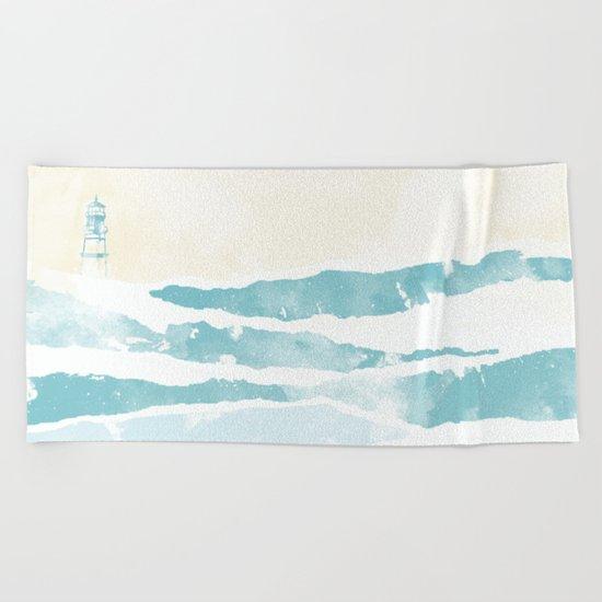 Sea waves Beach Towel