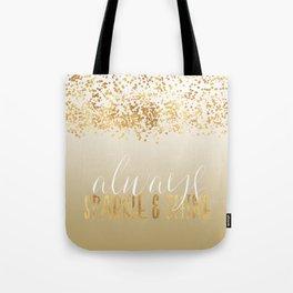 Gold Confetti Ombre Sparkle Tote Bag