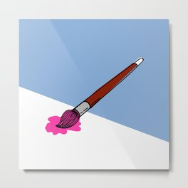 a brush for painting Metal Print