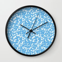Blue and White Composition Notebook Wall Clock