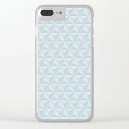Spaceship Earth Triangles Clear iPhone Case