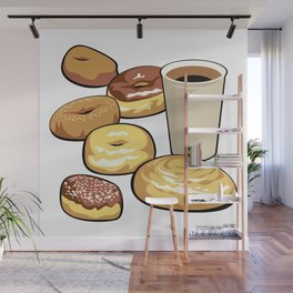 Coffee and donuts Wall Mural