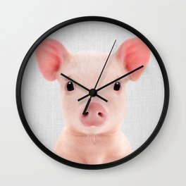 Piglet - Colorful Wall Clock