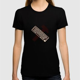 Hammer and keyboard  T-shirt