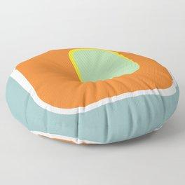 Mod Pod -Retro Turquoise Orange Floor Pillow
