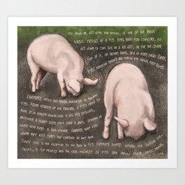 Pigs 3 Art Print