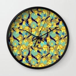Lion Pattern Wall Clock