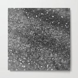 Silver Gray Black Glitter #1 (Faux Glitter - Photography) #shiny #decor #art #society6 Metal Print