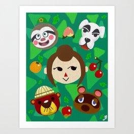 Animal Crossing: New Leaf Fan Art #1 Art Print