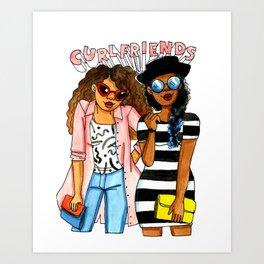 Curl friends Art Print