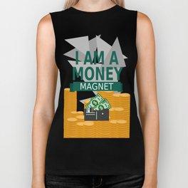 Positive Affirmation I am a money magnet Biker Tank