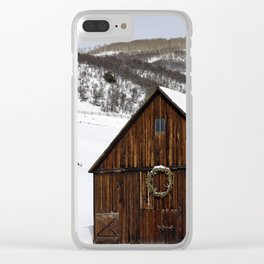 Snow Covered Cabin - Carol Highsmith Clear iPhone Case
