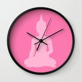 Pink Buddha Wall Clock