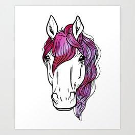 Horse Lover design Horseback Riding Vintage design Art Print