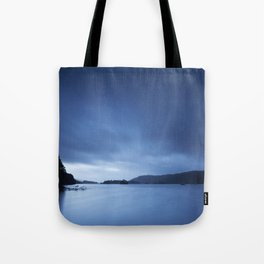 Sky over Lake Windermere. Low Millerground, Windermere, Lake District, UK in Autumn Tote Bag