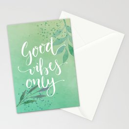 Good Vibes Only Quote Stationery Cards