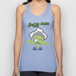 Frankenstein Einstein Mash Up Halloween E=mc2 e=mc scared Unisex Tank Top