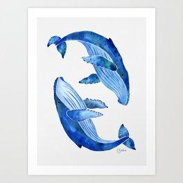 Humpback Whale | Ocean Blue Art Print
