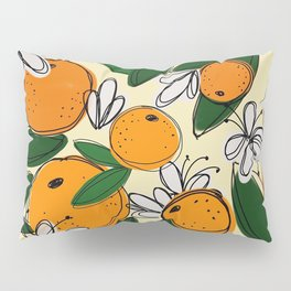 Oranges in Bloom Pillow Sham
