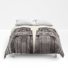 Guardians in Oatmeal Comforters