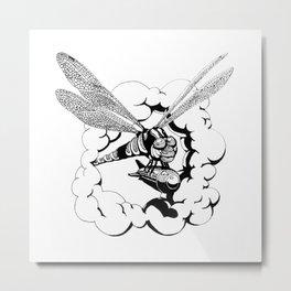 Dragonfly Bomb Metal Print