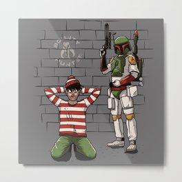 Arrest of Wally Metal Print