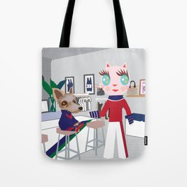 Sport fashionista cats Tote Bag