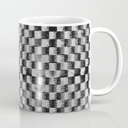 Edgy Checker (in shades of grey) Coffee Mug