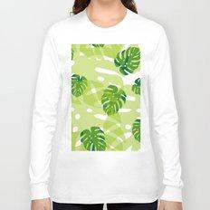 green monstera jungle Long Sleeve T-shirt