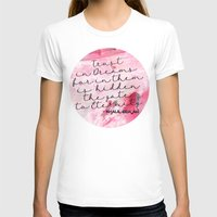 calligraphy T-shirts featuring Trust in Dreams calligraphy by Seven Roses