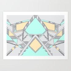 Aztec print illustration (2) Art Print