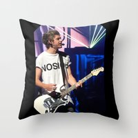 niall Throw Pillows featuring Niall by clevernessofyou