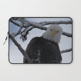 Bald Eagle at 12 Below -- Soldotna, Alaska Laptop Sleeve