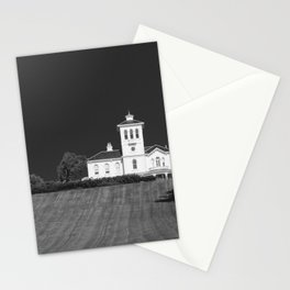 Black and white image of a homestead in Auckland New Zealand Stationery Cards