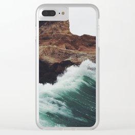 Montaña Wave Clear iPhone Case