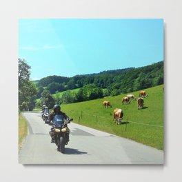 On the Motorbike trough AUSTRIA 01 Metal Print