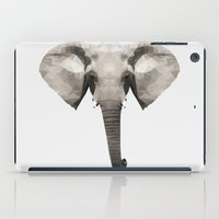 low poly iPad Cases featuring Low Poly Elephant Illustration by Caeli