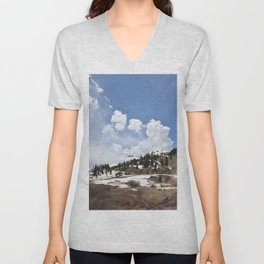Dancing Clouds Over Sheridan Summit and Black Bear Pass Road Unisex V-Neck