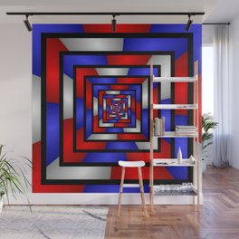 Colorful Tunnel 3 Digital Art Graphic Wall Mural