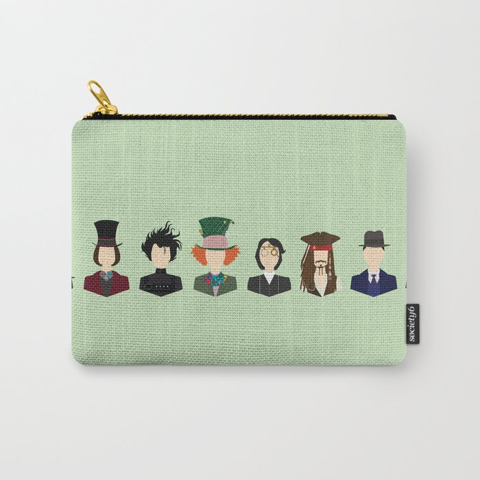 Johnny Depp Character Print Carry All Pouch By Loverlyphotos Society6