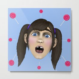"""""""Ryleigh Spots the Candy Store"""" Metal Print"""
