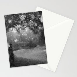 Journey in The Forest Clearing - When I first saw you in the wood Stationery Cards