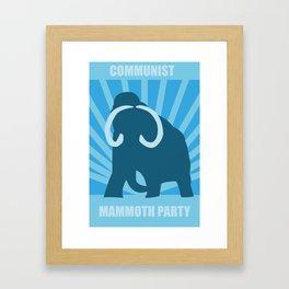 Communist Mammoth Party Framed Art Print