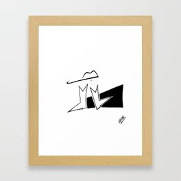 On my boots Framed Art Print