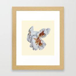 One pop on yellow Framed Art Print
