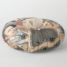 Tom Waits' Melodramatic Nocturnal Scene Floor Pillow