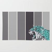 jaguar Area & Throw Rugs featuring jaguar by aceta